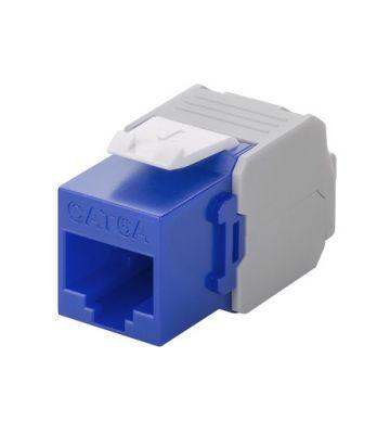 CAT6a UTP Keystone Connector - LSA - Blauw