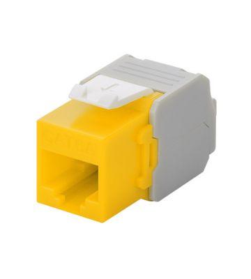 CAT6a UTP Keystone Connector - LSA - Geel