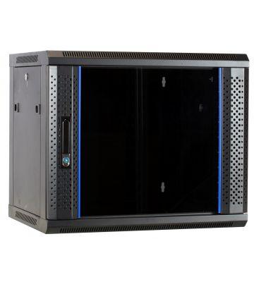 9U Wandkast met glazen deur 600x450x500mm