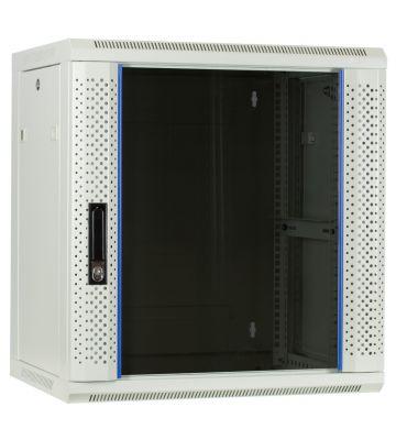 12U Witte Wandkast met glazen deur 600x450x635mm