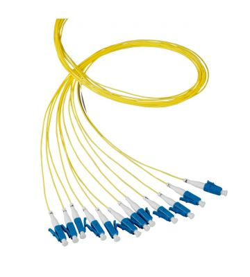 OS2 glasvezel pigtail geel LC/APC - 12 stuks