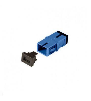 Singlemode keystone koppeling SC-SC simplex blauw