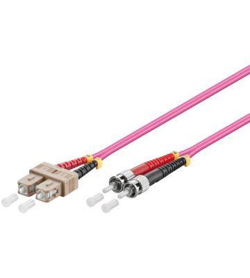 Glasvezel kabel SC-ST OM4 (laser optimized) 1 m