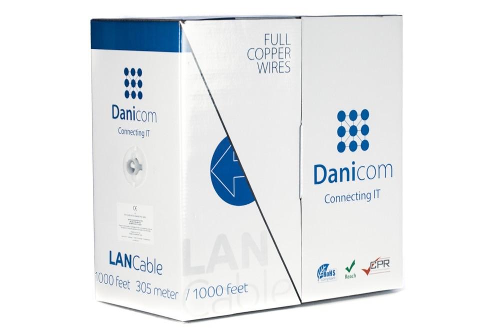 Afbeelding van DANICOM CAT5E FTP 305m op rol soepel - PVC (Fca)