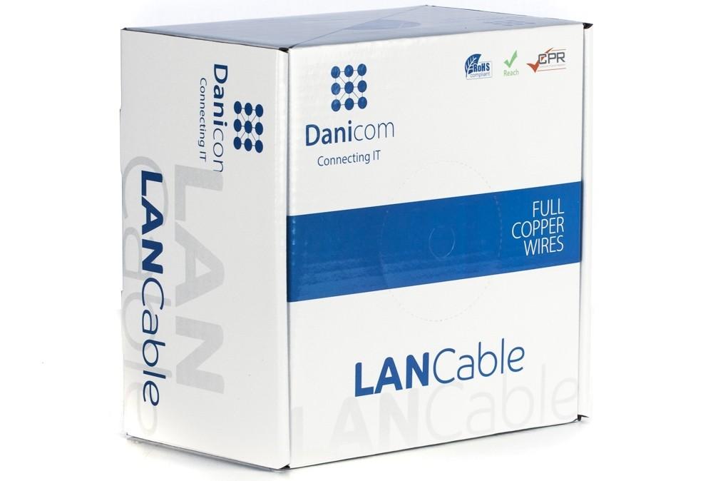 Afbeelding van DANICOM CAT6A S/FTP 100m op rol soepel - PVC (Fca)