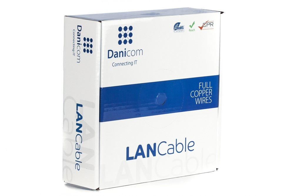 Afbeelding van DANICOM CAT7 S/FTP 50m op rol stug - LSZH (Eca)