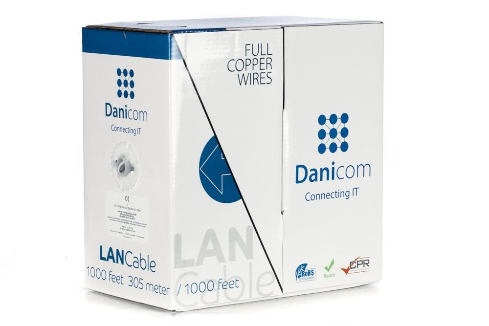 Afbeelding van DANICOM CAT5E UTP 305m op rol soepel - PVC (Fca)