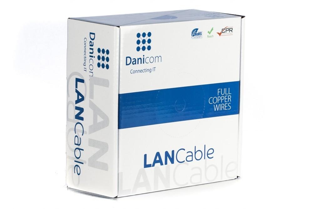 Afbeelding van DANICOM CAT6 UTP 100m op rol soepel - PVC (Fca)