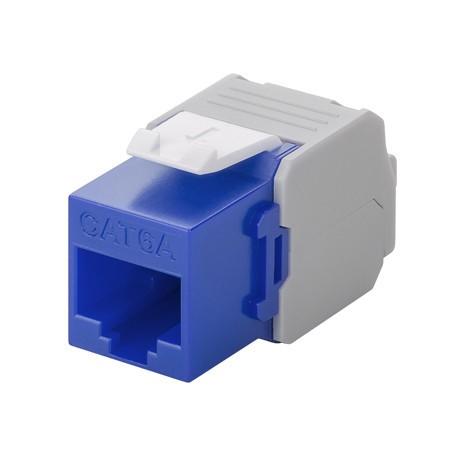 Afbeelding van CAT6a UTP Keystone Connector - LSA - Blauw