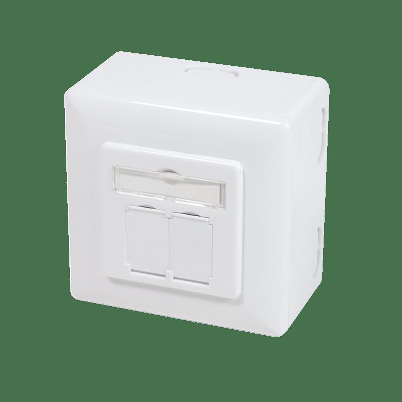 Afbeelding van Cat6a STP opbouwdoos, wit