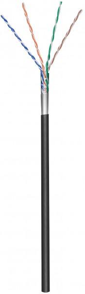 Afbeelding van CAT5e F/UTP 100m buitenkabel op rol soepel zwart CCA