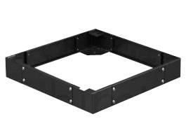 """Afbeelding van Sokkel voor 19"""" patchkasten, afmetingen: (BxDxH) 600x1000x150mm, zwart"""